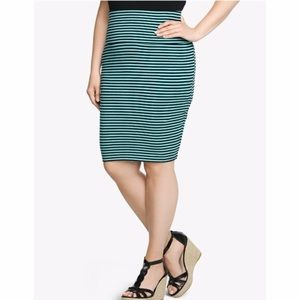 STRIPED FOLDOVER SKIRT